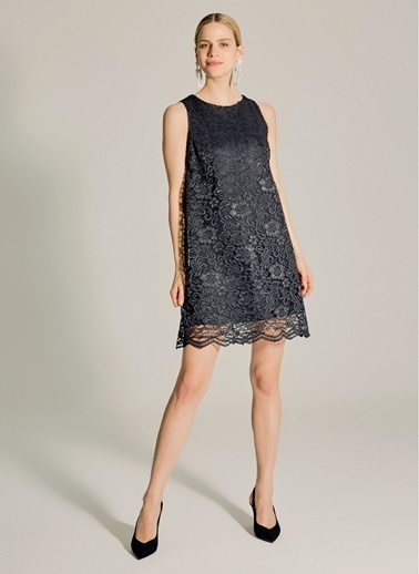 NGSTYLE Dantel Elbise Siyah